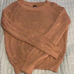 NWOT Poof Crochet Look Sweater